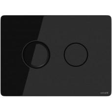 Cersanit BU-ACN-CIR-PN/Bl/Gl ACCENTO CIRCLE, кнопка смыва, стекло, черная