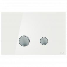 Cersanit P-BU-STE/Whg/Gl Кнопка STERO, стекло, белая глянцевая