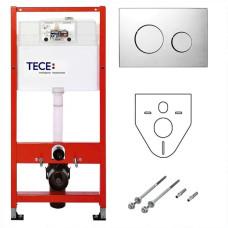 Инсталляция для унитаза 4 в 1 TECE K440921 Комплект с кнопкой TECEloop хром