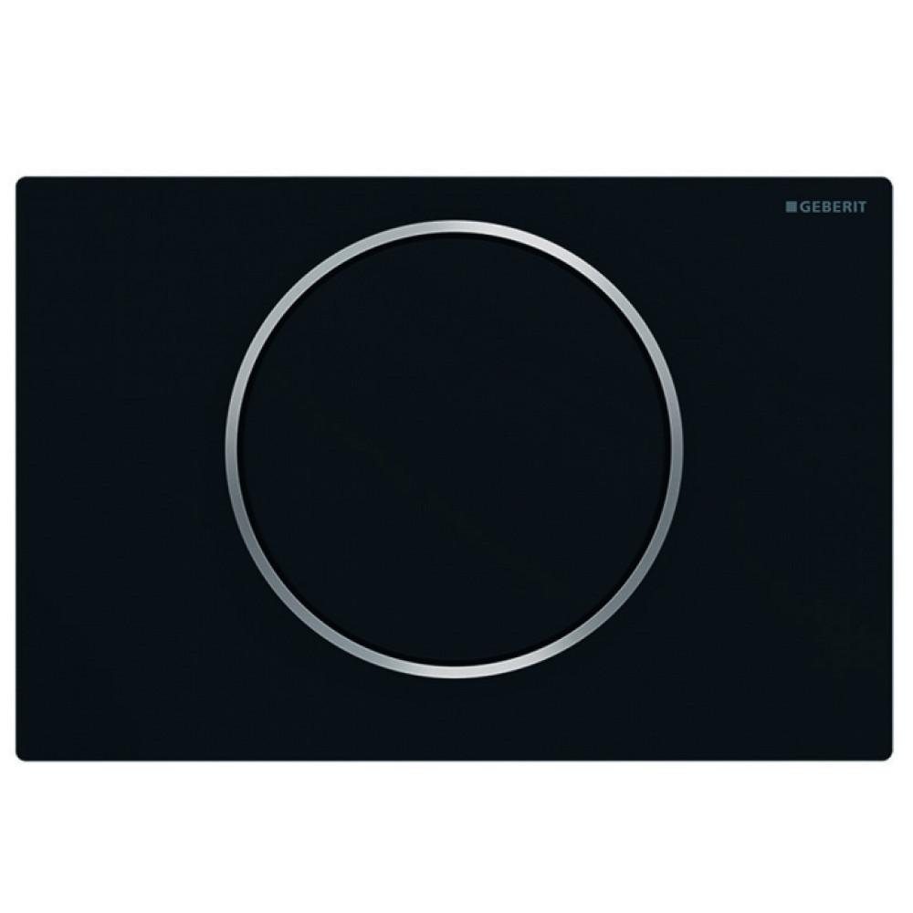 Кнопка смыва Geberit Sigma10 115.758.14.5 черная/хром