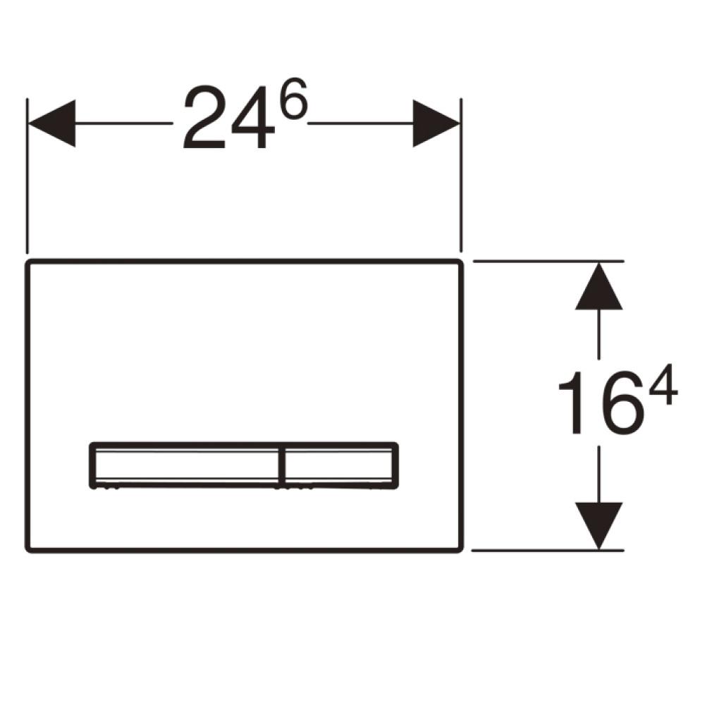 Кнопка смыва Geberit Sigma50 115.788.JM.2 серая/хром
