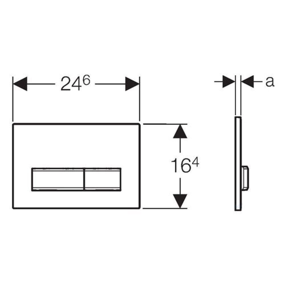 Geberit Sigma50 115.788.SD.5  Кнопка смыва серая/сталь