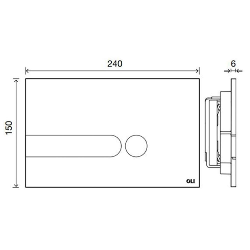 Кнопка смыва OLI iPlate 670006, матовый хром