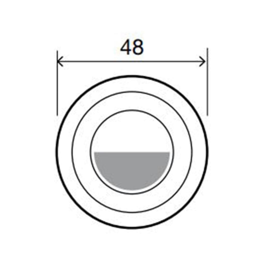 OLI Sphera - Пневматическая кнопка смыва, хром