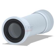 Гофра для унитаза АНИ пласт K928 с металической спиралью выпуск 110мм 280-575мм, для чугунных труб