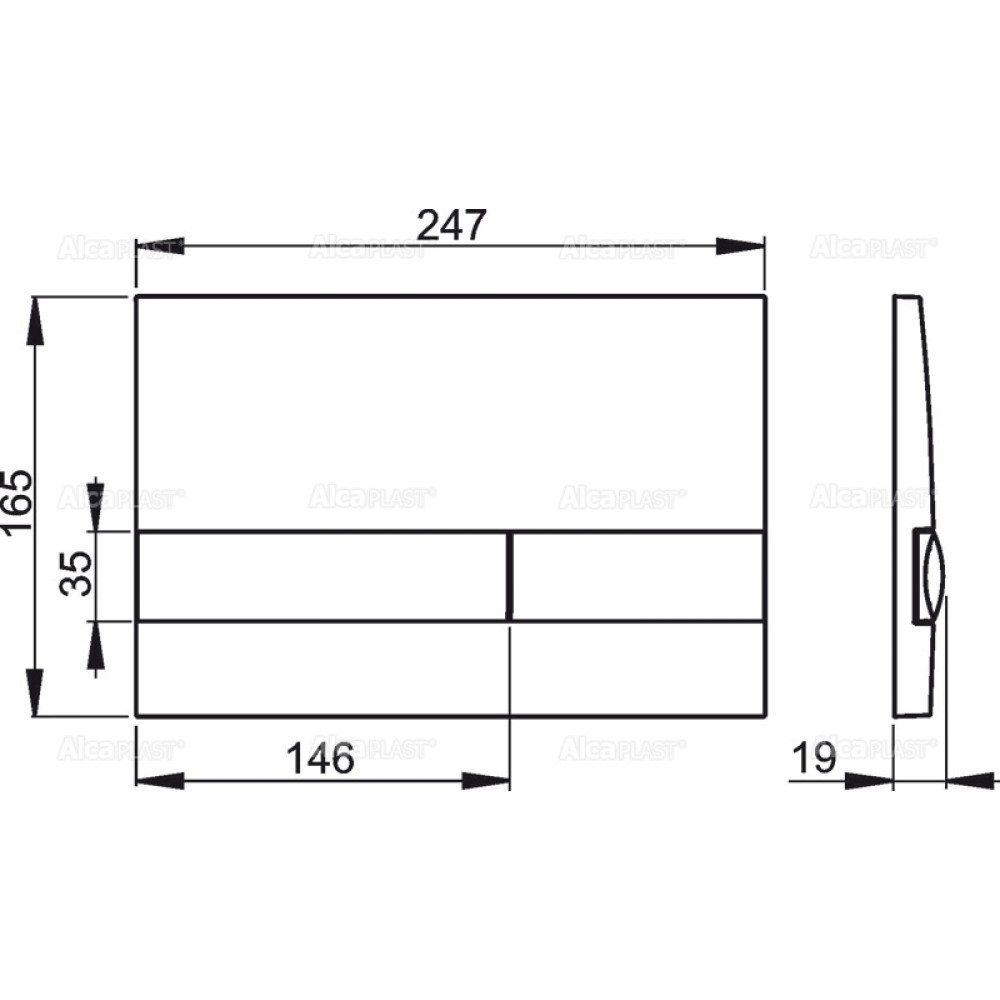 Кнопка смыва Alcaplast M1720-1 белая/хром