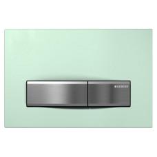 Кнопка смыва Geberit Sigma50 115.788.SE.5 зеленая/сталь