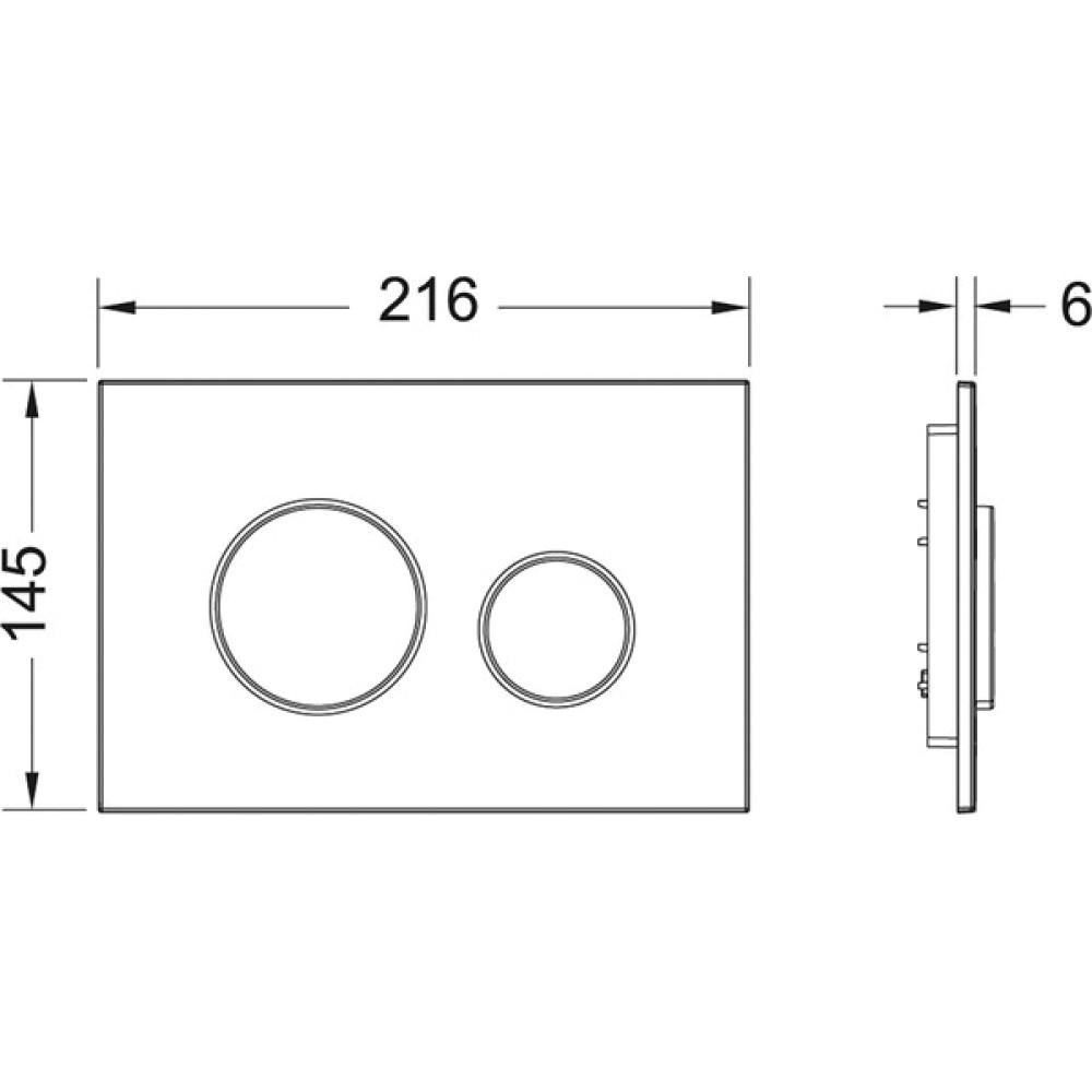 Кнопка смыва TECE loop 9240627 белая/хром