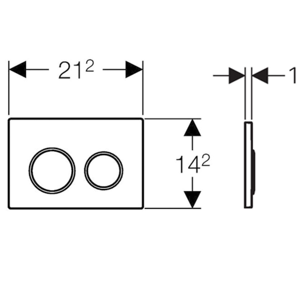 Кнопка смыва Geberit Omega20 115.085.KH.1 хром/матовый хром