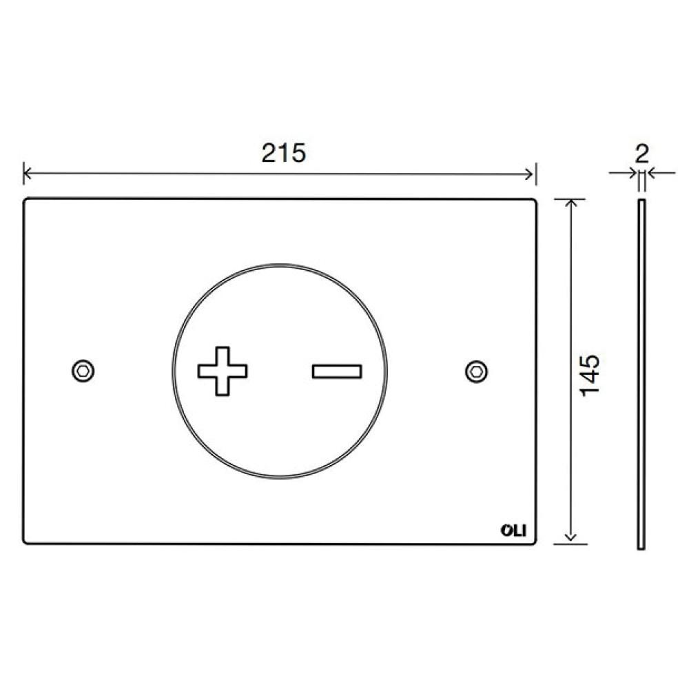 Кнопка смыва OLI INO-X02, матовый хром