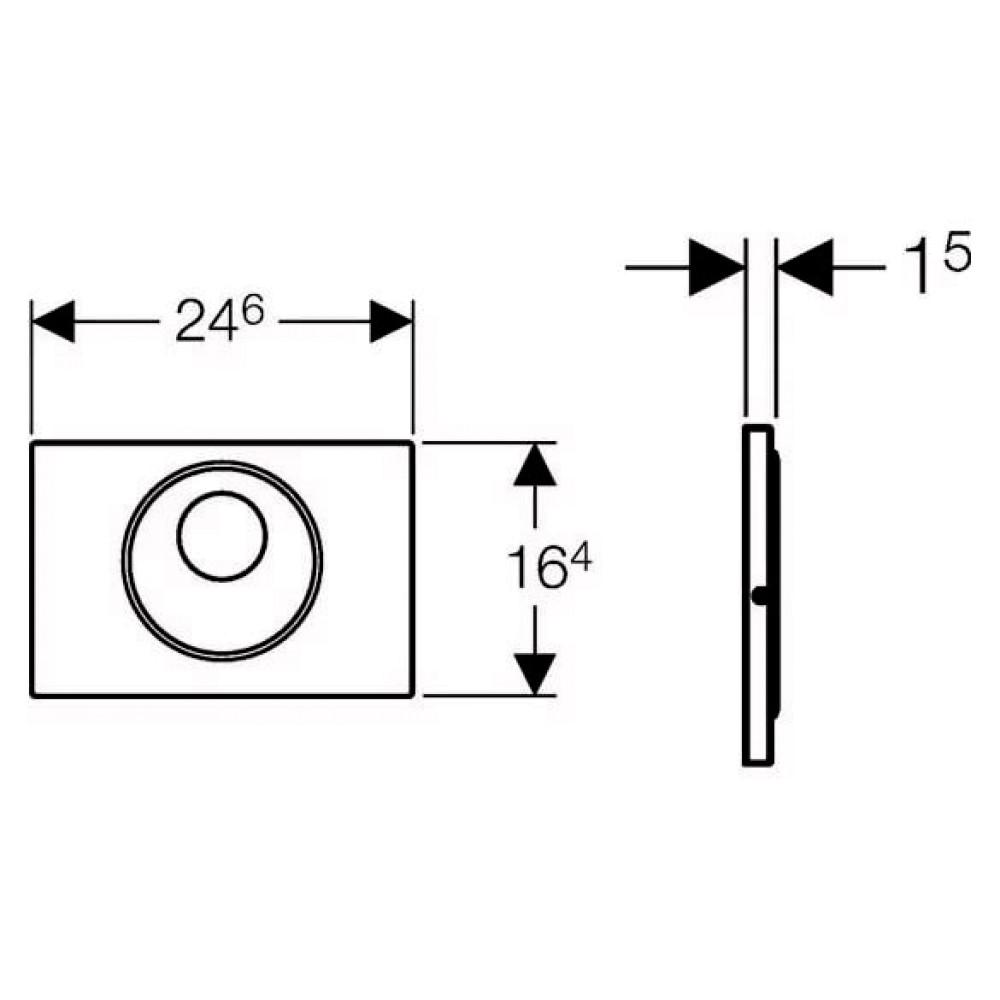 Система электронного управления смывом унитаза Geberit, питание от батарей