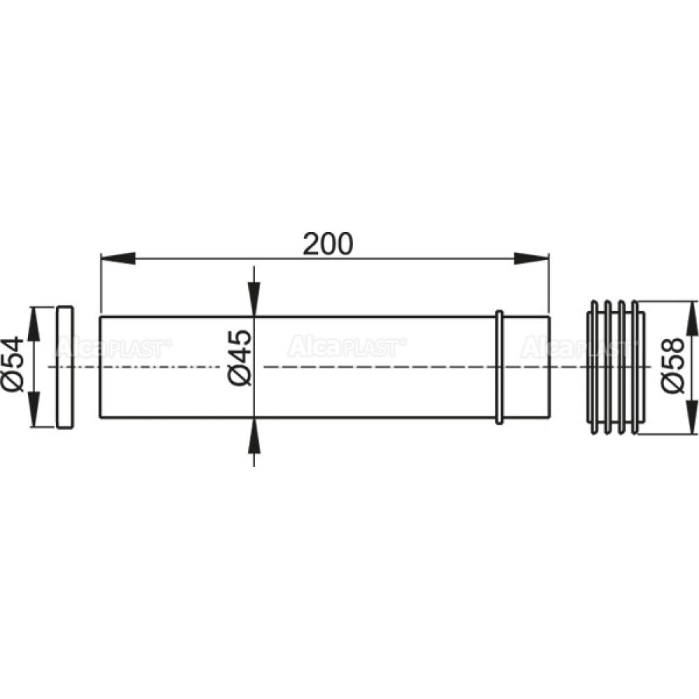 Патрубок для унитаза Alcaplast M901