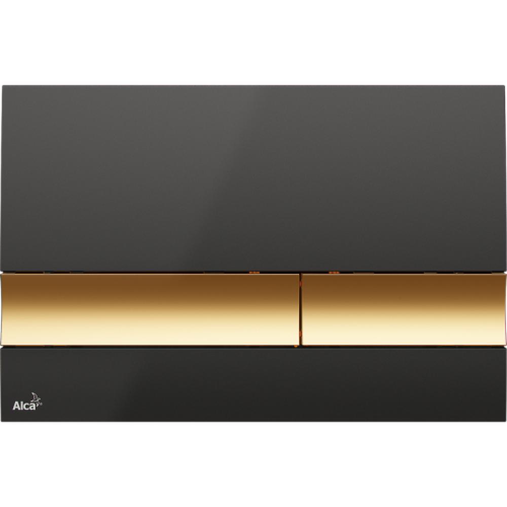 Alcaplast M1728-5 Кнопка смыва, черная/золото