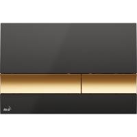 Кнопка смыва Alcaplast M1728-5 черная/золото