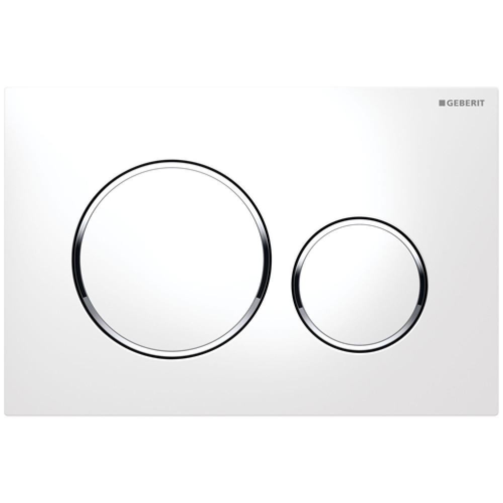 Кнопка смыва Geberit Sigma20 115.882.KJ.1 белая/хром