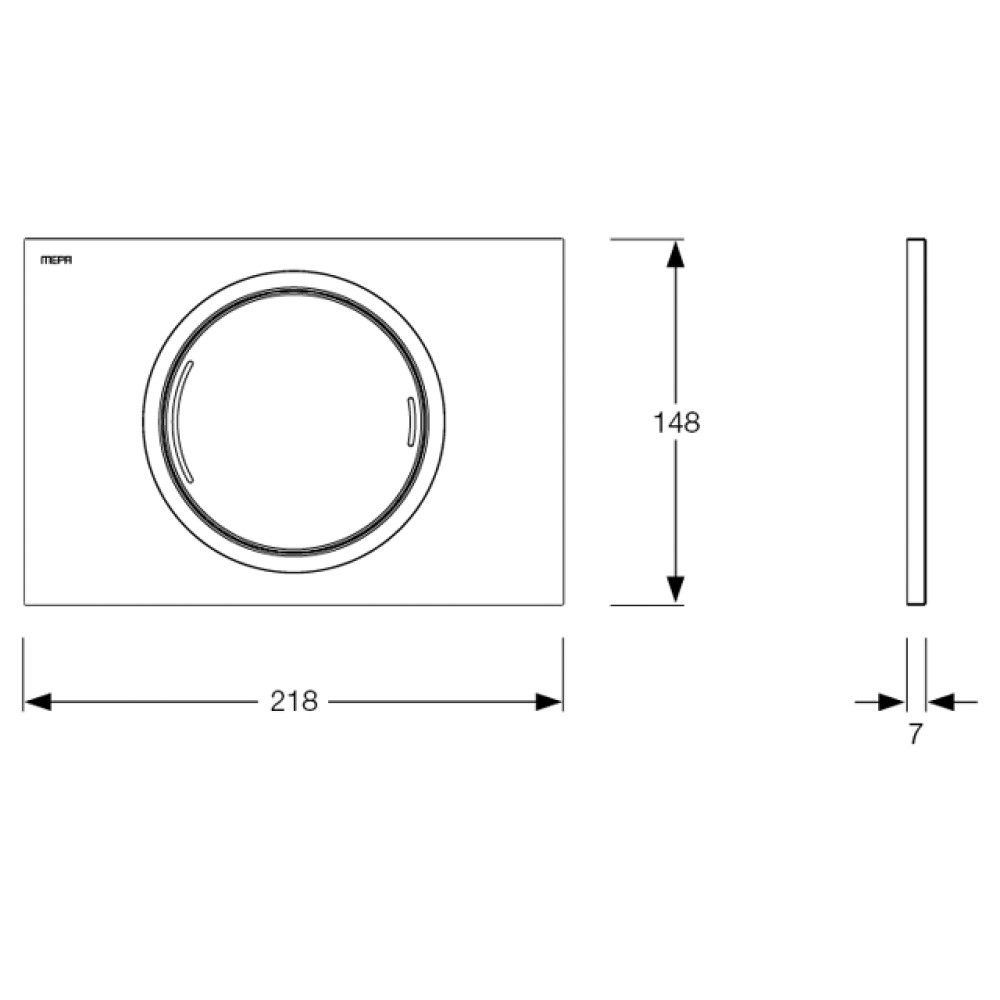 Кнопка смыва MEPA/ZERO белая/хром