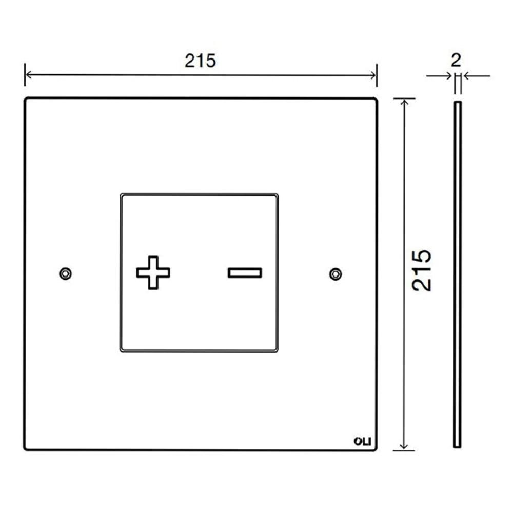 Кнопка смыва OLI INO-X03, квадратная, матовый хром