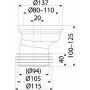 Манжета для унитаза Alcaplast A991-20