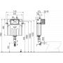 Бачок Alcaplast AM112 скрытого монтажа, для унитаза