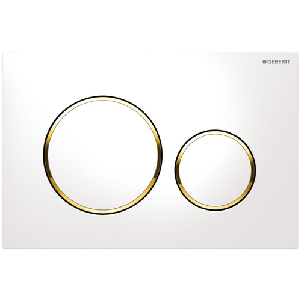 Geberit Sigma20 115.882.KK.1 Кнопка смыва белая/золото