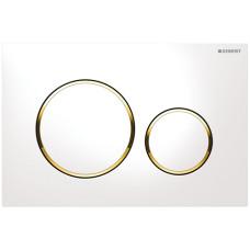 Кнопка смыва Geberit Sigma20 115.882.KK.1 белая/золото