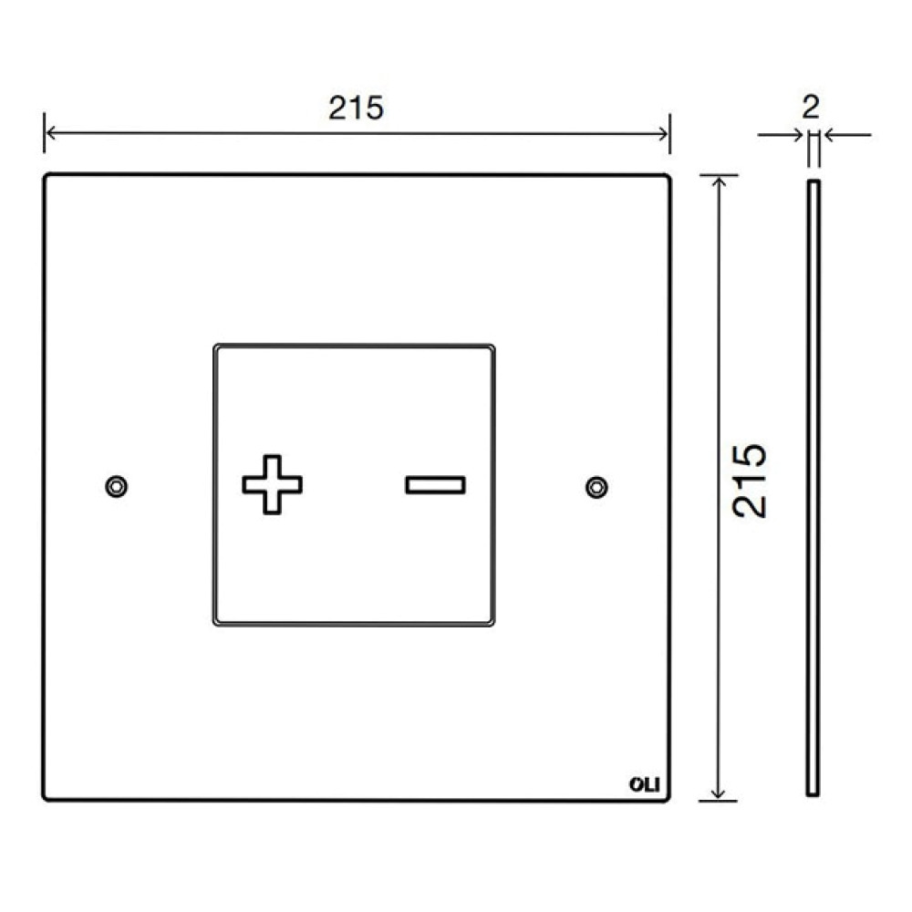 Кнопка смыва OLI INO-X03, хром