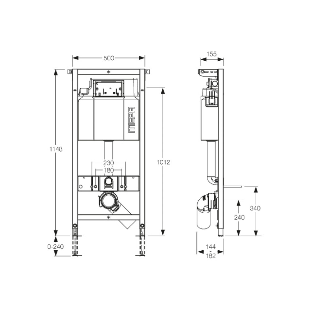 Инсталляция для подвесного унитаза MEPA/VariVIT A3