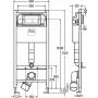 Viega Prevista Dry 792824 Инсталляция для унитаза, комплект 3 в 1
