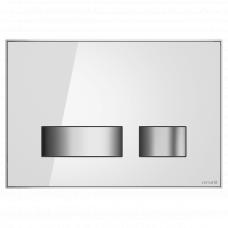Cersanit P-BU-MOV/Whg/Gl Кнопка MOVI, стекло, белая глянцевая