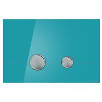 Кнопка смыва Cersanit STERO P-BU-STE/Azg/Gl лазурная