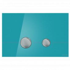 Cersanit P-BU-STE/Azg/Gl Кнопка STERO, стекло, лазурная глянцевая