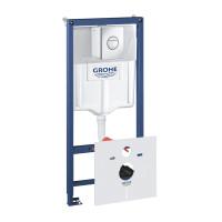 Инсталляция для унитаза 4 в 1 Grohe Rapid SL 38813001 комплект с кнопкой хром