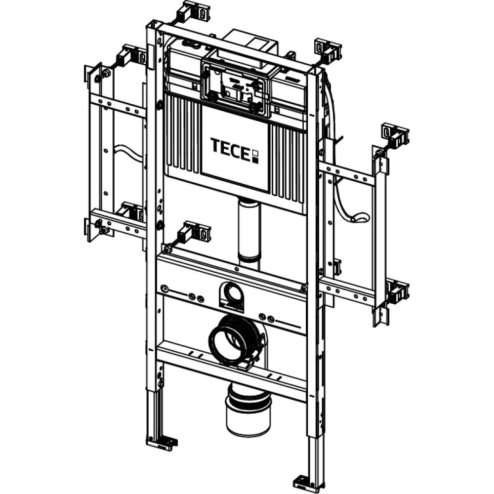 Инсталляция для установки унитаза TECEprofil, с креплением для поручней