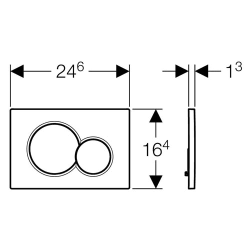 Кнопка смыва Geberit Sigma01 115.770.DT.5 латунь