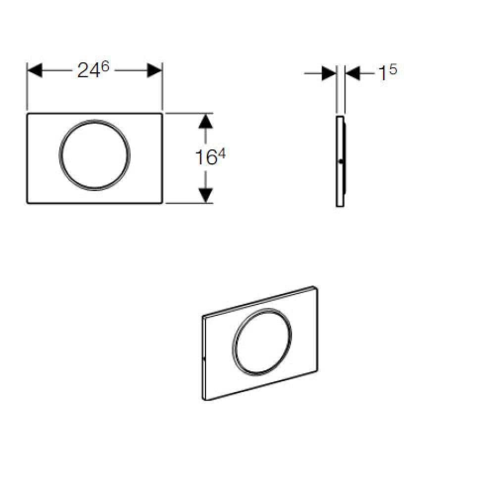 Geberit Sigma10 115.758.KH.5 Кнопка смыва хром/матовый хром