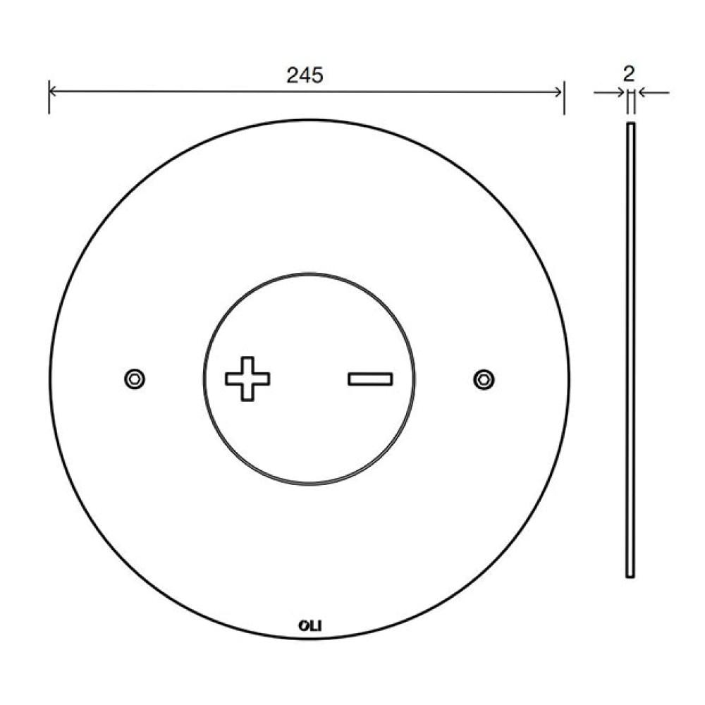 Кнопка смыва OLI INO-X06, круглая, хром