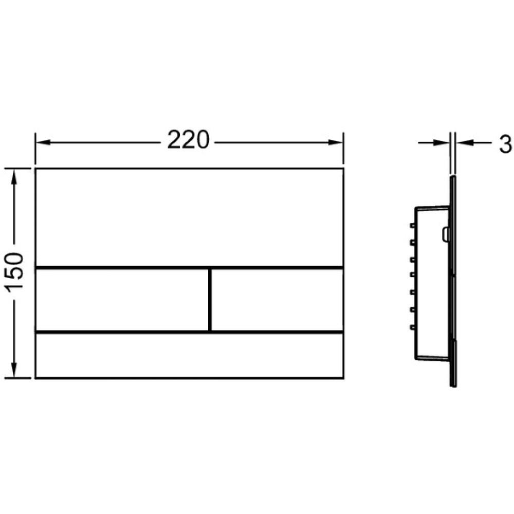 Кнопка смыва TECE Square II 9240830 сталь