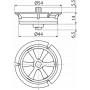 Регулятор скорости потока воды Alcaplast P115