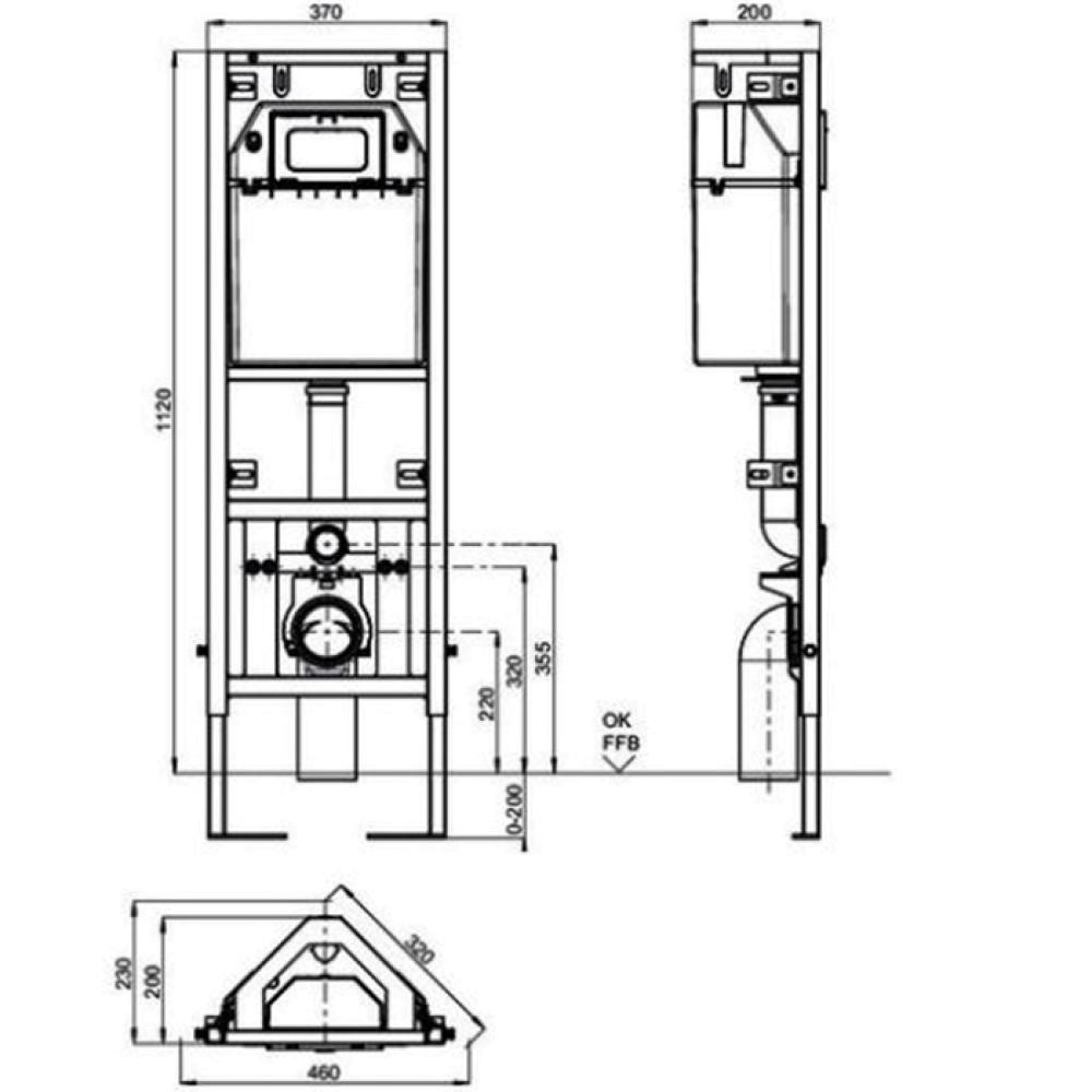 Угловая инсталляция для унитаза Sanit 90.699