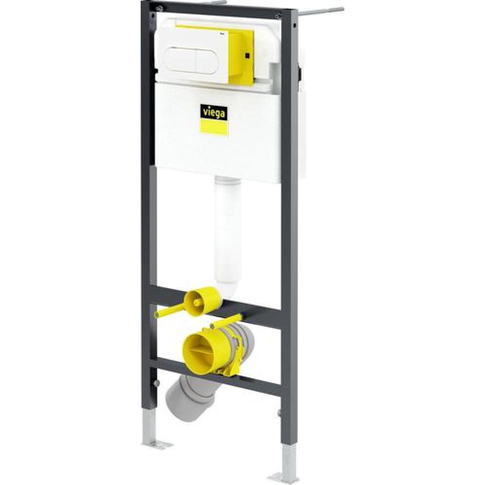 Viega Prevista Dry 792831 Инсталляция для унитаза, комплект 3 в 1
