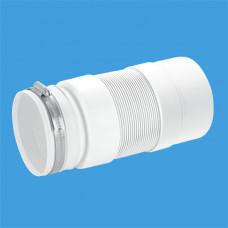 Гофра для унитаза McAlpine MRWC-F23PJ 230-330мм, жесткий выпуск, с хомутом