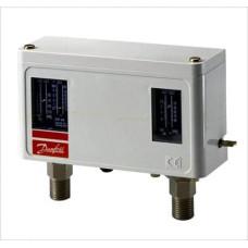 Сдвоенное реле давления Danfoss KP 44 060-001366 для защиты подающих водяных насосов
