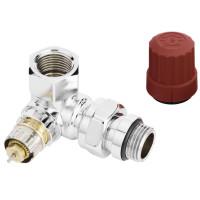 Вентиль для полотенцесушителя Danfoss трехосевой RA-NCX для подключения справа, хромированный 013G4239