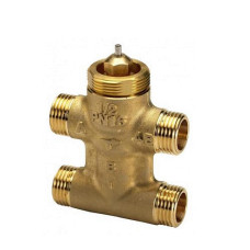 Danfoss VZL 4 065Z2090 Регулирующий клапан, латунь, четырехходовой ДУ 15 | G ½ | Ру 16бар | Kvs: 2.8м3/ч | ход штока, мм: 2.8, для TWAZ и AMV(E)