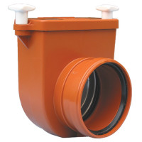 HL HL710.0 Канализационный затвор DN110 с заслонкой из нержавеющей стали и муфтой
