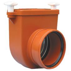 HL710.0 Канализационный затвор DN110 с заслонкой из нержавеющей стали и муфтой