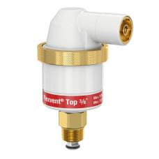 Воздухоотводчик автоматический Flamco Flexvent Top 28510 3/8 белый, с запорным клапаном