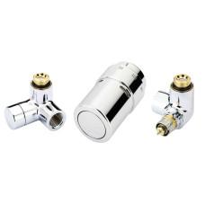 Danfoss Комплект RAX set для подключения дизайн-радиатора, терморегулятор справа, хромированный 013G4003
