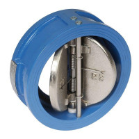 Двухстворчатый обратный клапан Tecofi CB3448N-EP0080 Ду80 створки чугун, межфланцевый