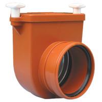 HL HL712.0 Канализационный затвор DN125 с заслонкой из нержавеющей стали, для переливных колодцев